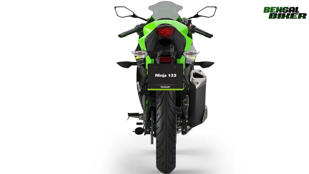 Kawasaki Ninja 125 green colors back side