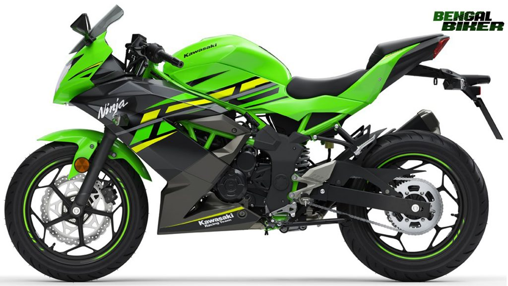 Kawasaki Ninja 125 green colors