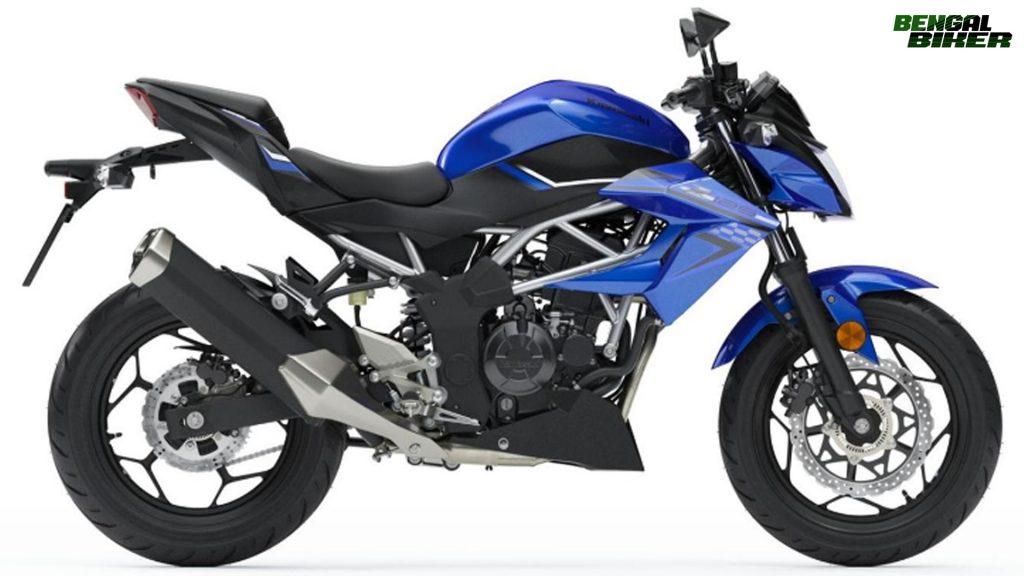 Kawasaki Z125 blue colors bd