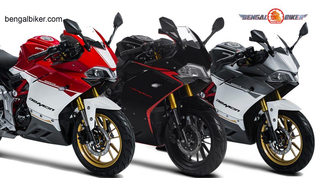 Demon 150 GR red , black, silver