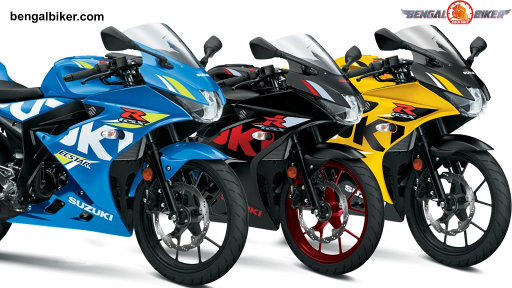 Suzuki GSX-R 150 Black, Yellow, Blue colours