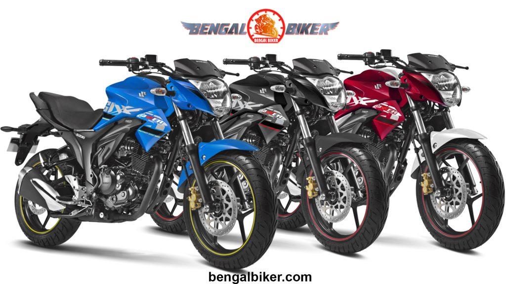 Suzuki Gixxer 155 black,blue, red