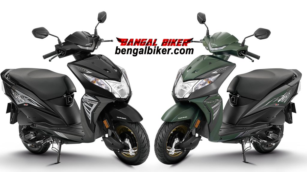 Honda Dio 110 green and black colors