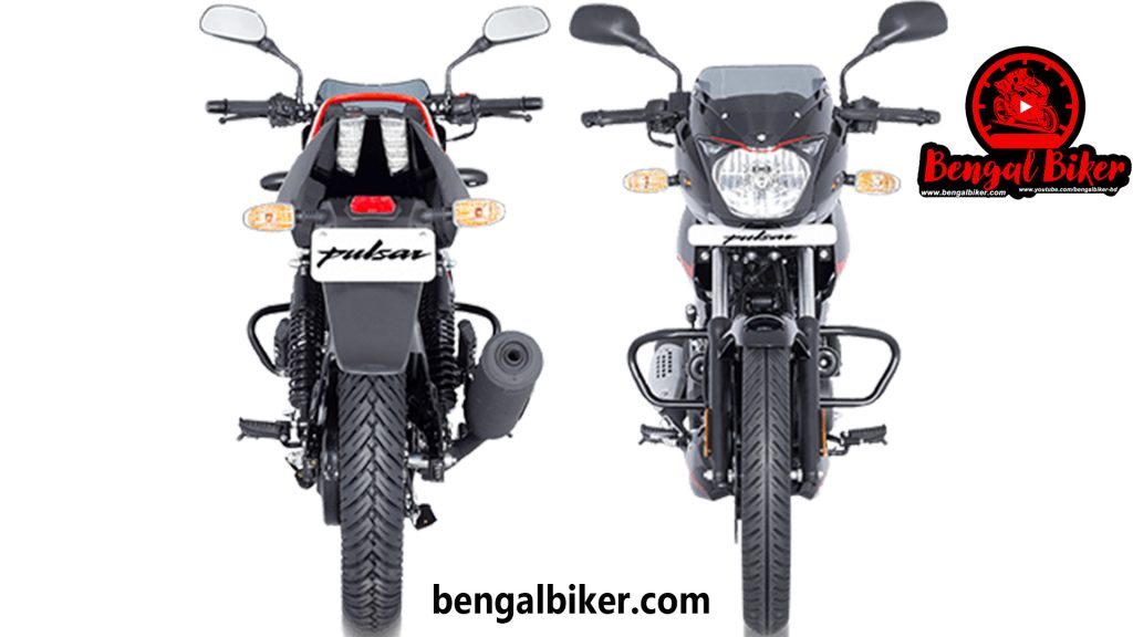 bajaj pulser 150 neon font and back