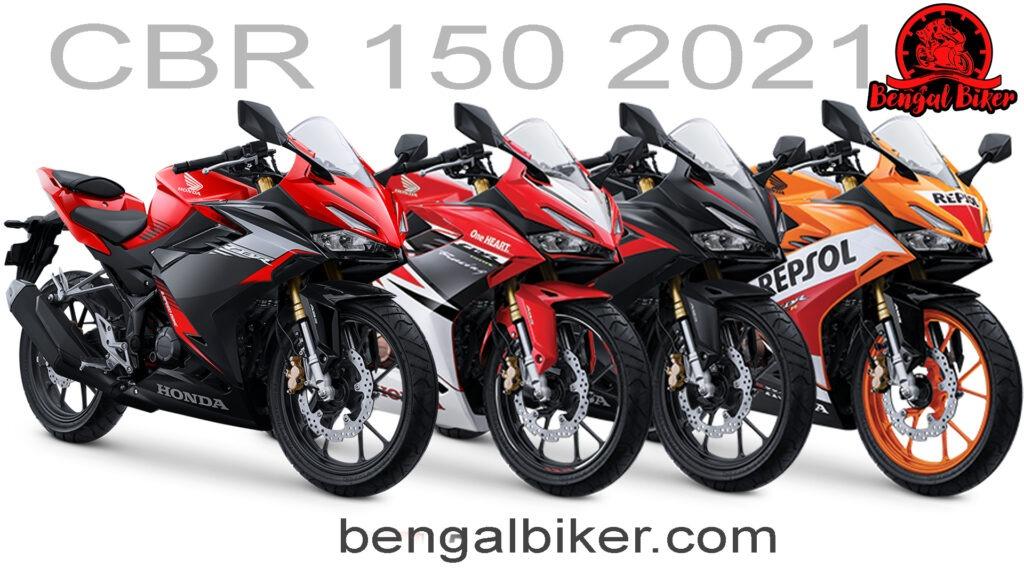 Honda cbr 150 2021 all colora