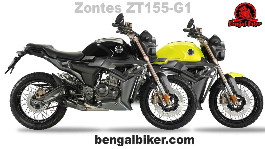 Zontes ZT 155 G1 back and yellow