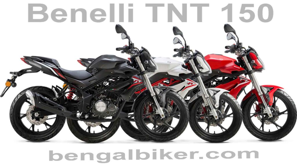 Benelli TNT 150 red blackand white